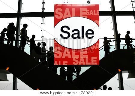 Sale At The Shopping Mall