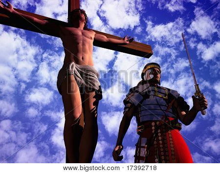 Sileet warrior about the crucified Jesus