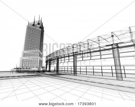 The graphic image of building construction