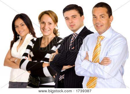 Businessman Leading A Team