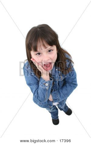 Girl (7 Years) With Surprised Expression
