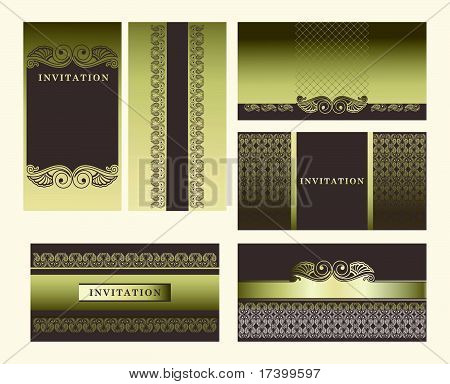 Set of ornate vector frames.