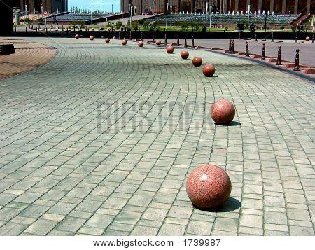 Spheres On Asphalt