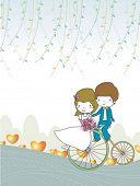 Постер, плакат: История свадьбы
