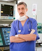 experienced physician in intensive care unit