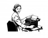 Retro Secretary - Retro Clip Art