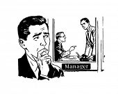 picture of clip-art staff  - Worried Man 2  - JPG