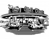 stock photo of diners  - Retro Diner  - JPG