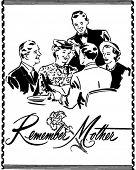 Постер, плакат: Помните мать Ad заголовок ретро клипарт