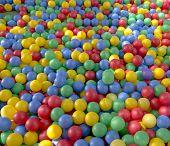 Постер, плакат: цветные пластиковые шарики фон