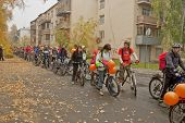 YEKATERINBURG - SEPTEMBER 25:Day Without Car . Bike Ride on Car Free Day which is called