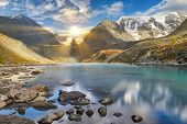 Beautiful Summer Landscape, Altai Mountains Russia. poster