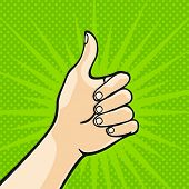 stock photo of thumbs-up  - Thumb up - JPG