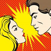 image of pop art  - Comics style couple  - JPG