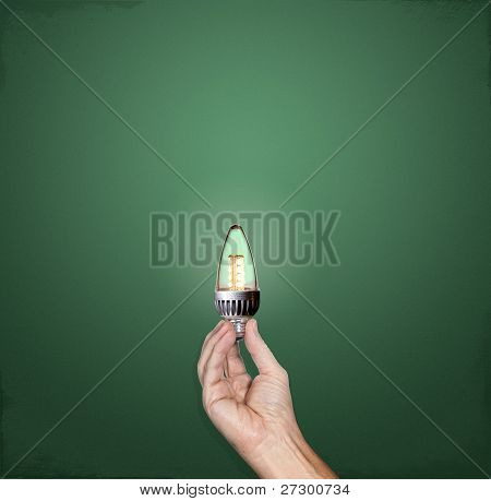 Bright Idea Led Lightbulb In Hand