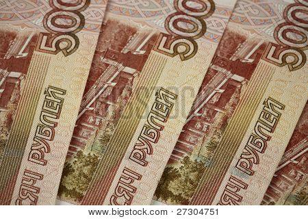 Russian money background