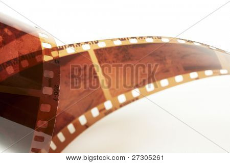35 mm film isolated over white background