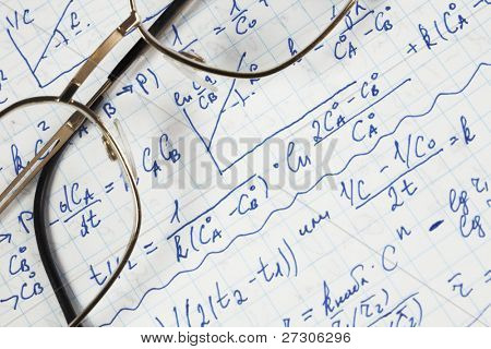 hand written maths calculations