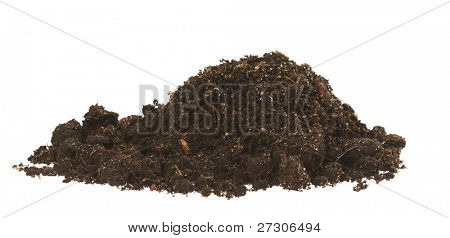 soil,Isolated on white with clipping paths.