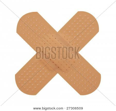 First-aid plaster,Isolated on white with clipping paths.