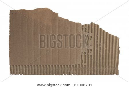 corrugated cardboard,isolated on white with clipping path.