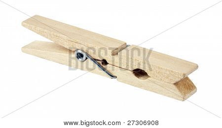 clothespin,isolated on white with clipping path