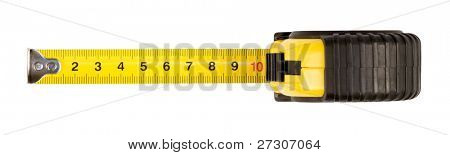 tape measure,isolated on white with clipping path.