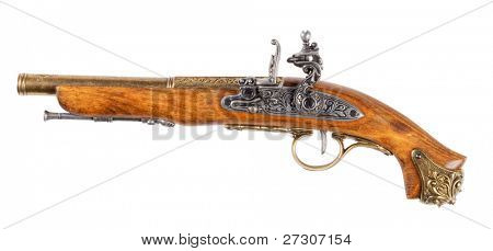 Pistol,isolated on white with clipping path.
