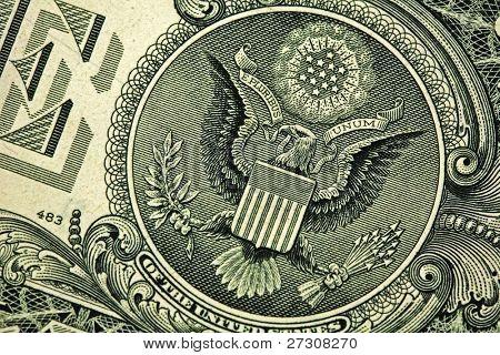 Rückseite des einen Dollar-Schein