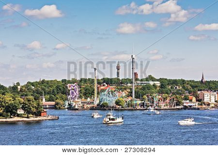 Grona lund attraction park in stockholm