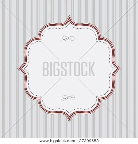 Vector Striped Background and Red Frame. Easy to edit. Perfect for invitations or announcements.