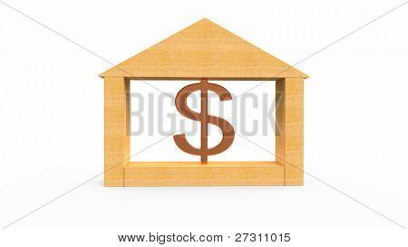 Dólar y casa modelo