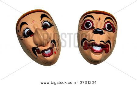 Two Laughing Masks