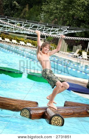 Boy At A Waterpark