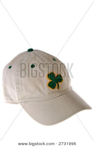 Baseball Hat With Clover Emerald
