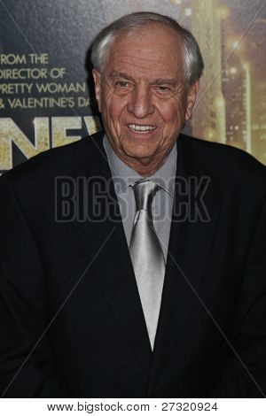NEW YORK,NY - DECEMBER 07: Director/producer Garry Marshall poses for a photo during the 'New Year's Eve' premiere at Ziegfeld Theatre on December 7, 2011 in New York City.