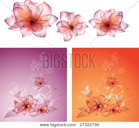 Beautiful Floral Pattern - fabric samples