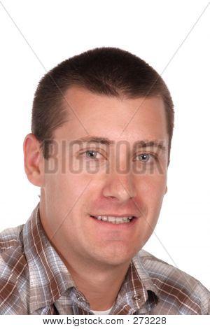 Headshot Of A Youthful Lad