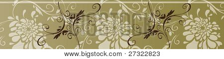 Romantic Floral Pattern sample - fashion fabric