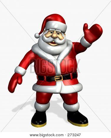 Santa agitando