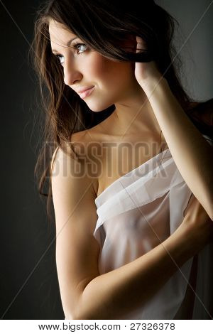 Portrait of a beautiful young sexy woman