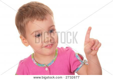 Child With Index Finger