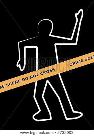 Body Crime Scene Do Not Cross