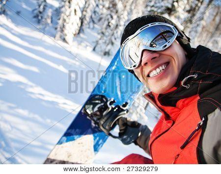 ein Gesundheit Lebensstil Bild der jungen snowboarder
