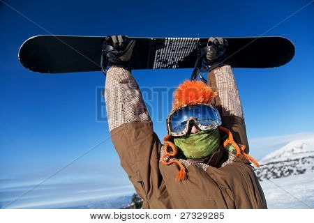 portrait of a man with the snowboard