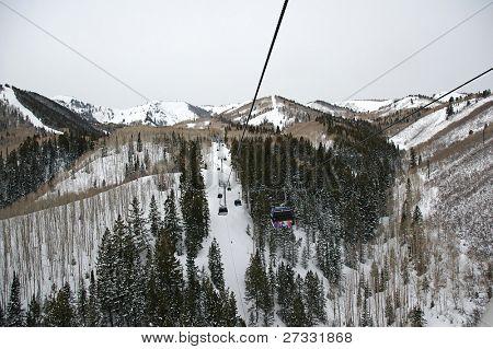 Chairlifts in Utah ski resort