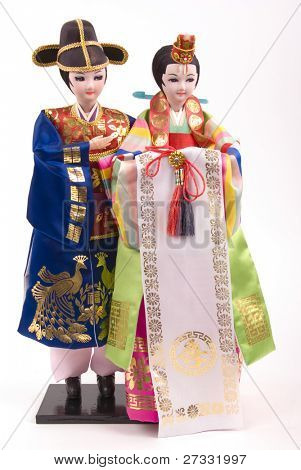 Asian bride and groom dolls (Korean)