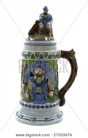 A German beer stein