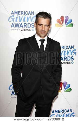 LOS ANGELES - DEC 9: Colin Farrell at the American Giving Awards Presented By Chase at the Dorothy Chandler Pavilion on December 9, 2011 in Los Angeles, California