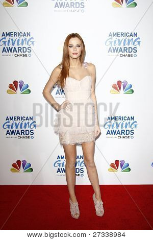 LOS ANGELES - DEC 9:Miss USA Alyssa Campanella at the American Giving Awards Presented By Chase at the Dorothy Chandler Pavilion on December 9, 2011 in Los Angeles, California